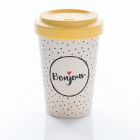 "Bamboo Cup ""Bonjour"" Chic.Mic"