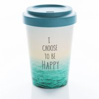 "Chic Mic Bamboo Cup ""Choose Happy"""