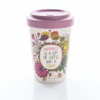 "Chic Mic Bamboo Cup ""Coffee Happiness"""