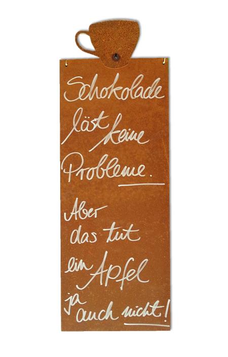 Kunstschmiede neumeier burgau rostige spruchtafeln for Gartendeko schilder