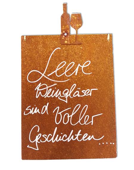 Kunstschmiede neumeier burgau rostige spruchtafeln for Rostige gartenartikel