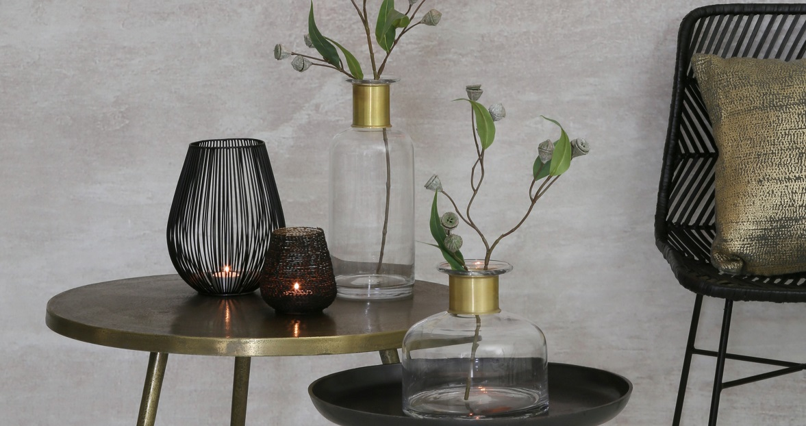 Light & Living Glas Vase Vimioso