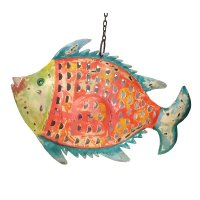 Metall Fisch Laterne Shabby Chic