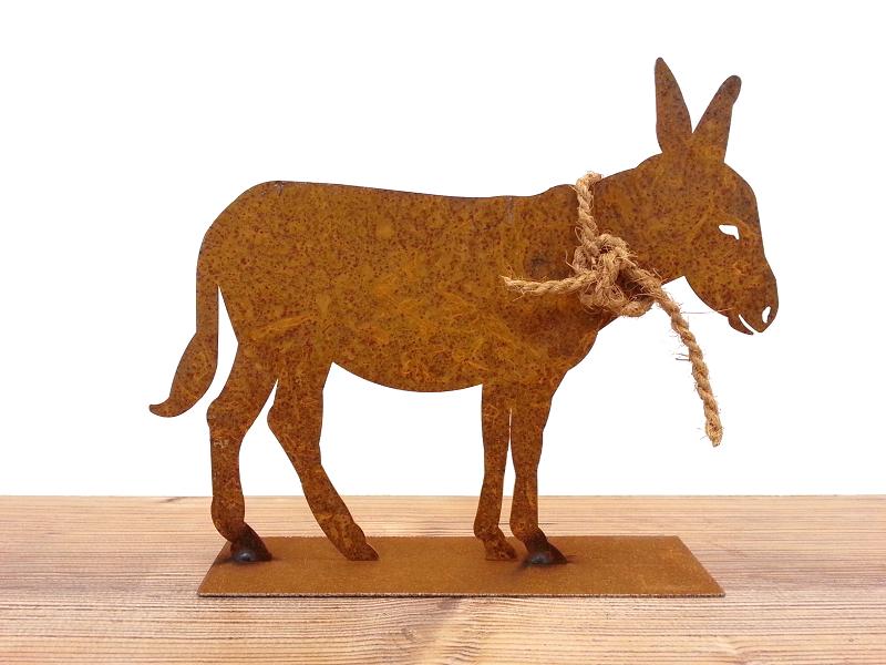 Kunstschmiede neumeier burgau rostige ziege steinbock for Tiere aus rostigem eisen