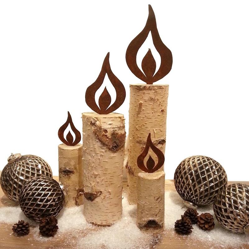 kunstschmiede neumeier burgau rostige flammen kerzen. Black Bedroom Furniture Sets. Home Design Ideas