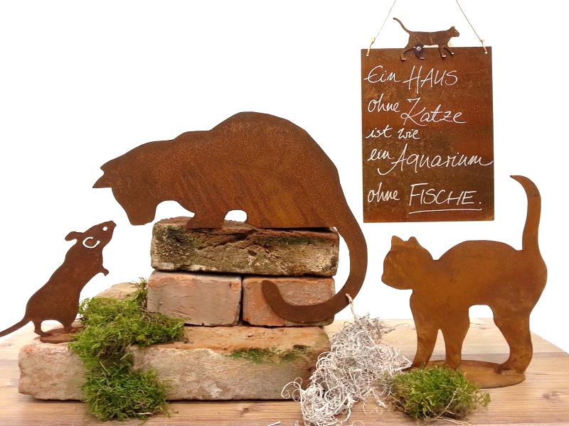 Kunstschmiede neumeier burgau rostige katzen for Gartendeko aus rostigem stahl