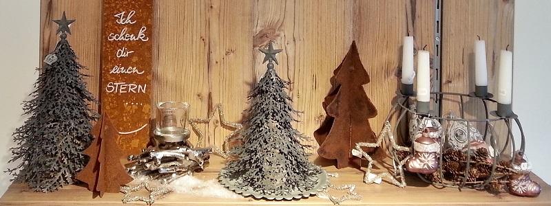 Kunstschmiede neumeier burgau weihnachten nordische deko for Deko rost weihnachten